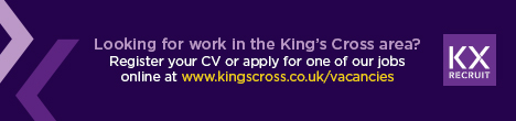 Looking for work in King's Cross>